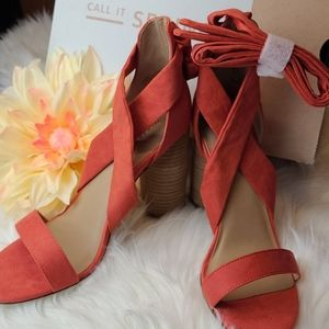 CALL IT SPRING DEFURIA ANKLE WRAP SANDALS